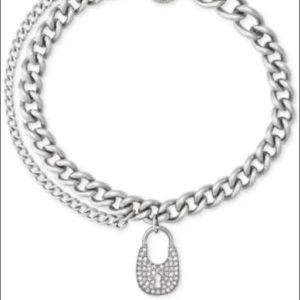 Michael kors silver lock bracelet